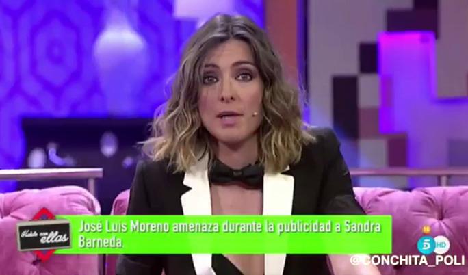 """Personajes Personajes José Luis Moreno, a Sandra Barneda: """"Una más y te corto el cuello"""""""