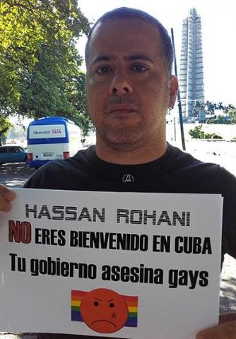 America America Activistas LGBT alientan una protesta contra la presencia de Rohani en la Isla