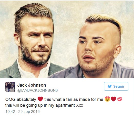 Personajes Personajes Jack Johnson se ha gastado más de 20.000 euros en parecerse a David Beckham