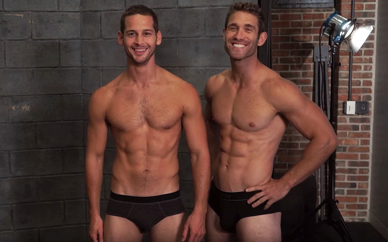 News News Max Emerson and CJ Koegel tour New York City in their underwear