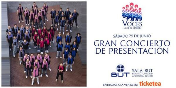 Actualidad Actualidad El Coro Voces LGTB de Madrid se presenta al público madrileño en la Sala But