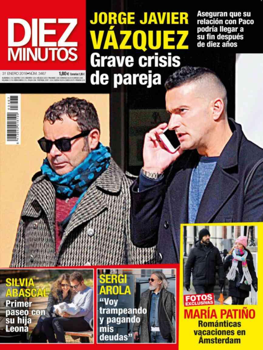 Actualidad Actualidad Jorge Javier Vázquez, grave crisis con su pareja tras 10 años de relación